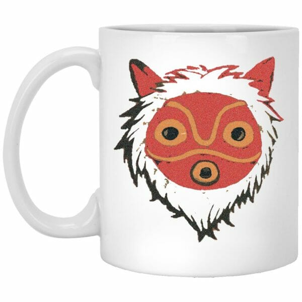 Princess Mononoke Mask in Black and White Mug