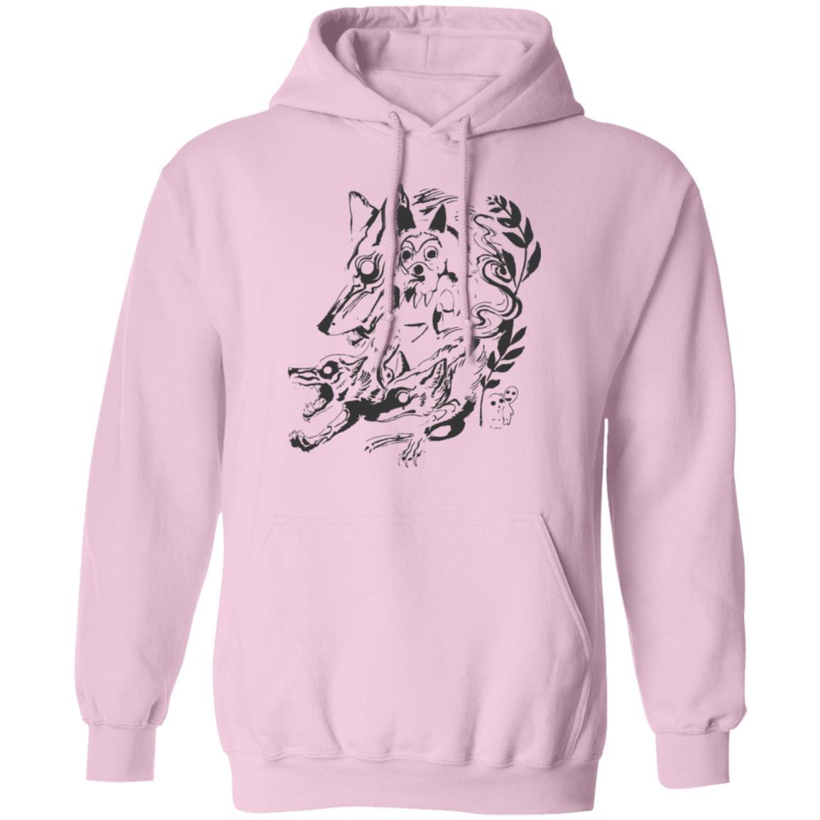 Princess Mononoke and The Wolf Creative Art Hoodie Unisex