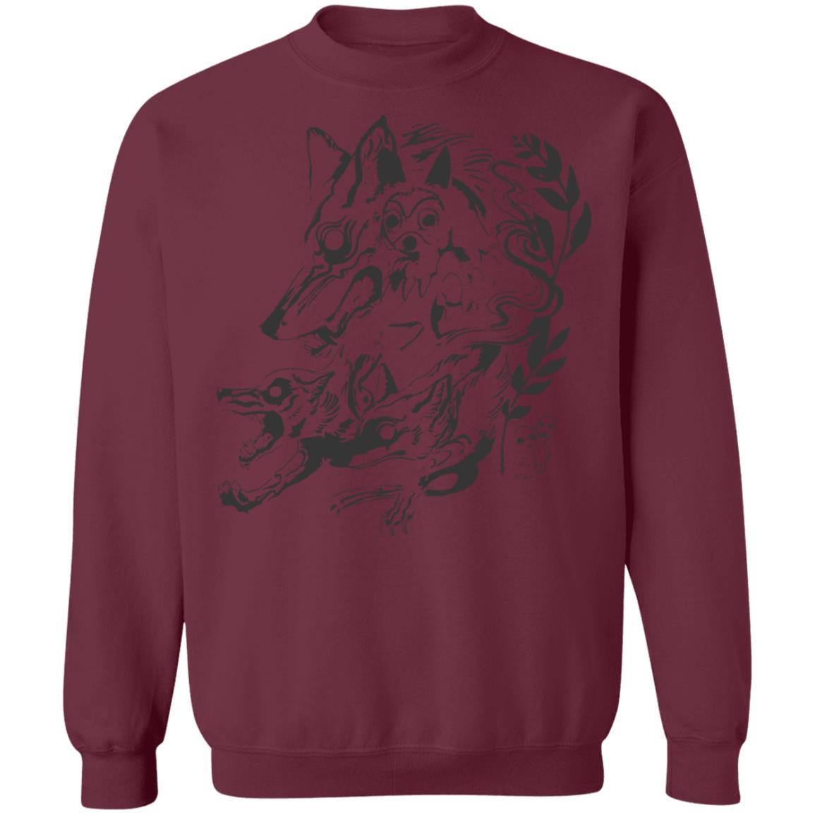 Princess Mononoke and The Wolf Creative Art Sweatshirt Unisex