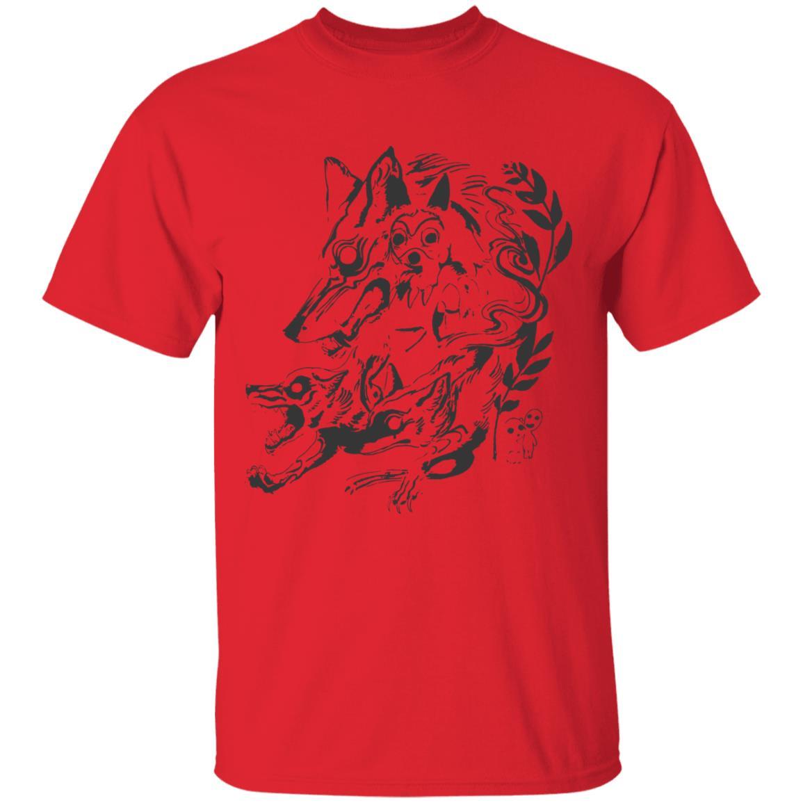 Princess Mononoke and The Wolf Creative Art T Shirt Unisex
