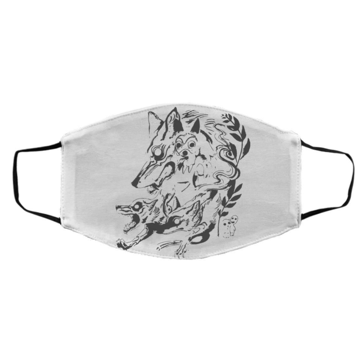 Princess Mononoke and The Wolf Creative Art Face Mask