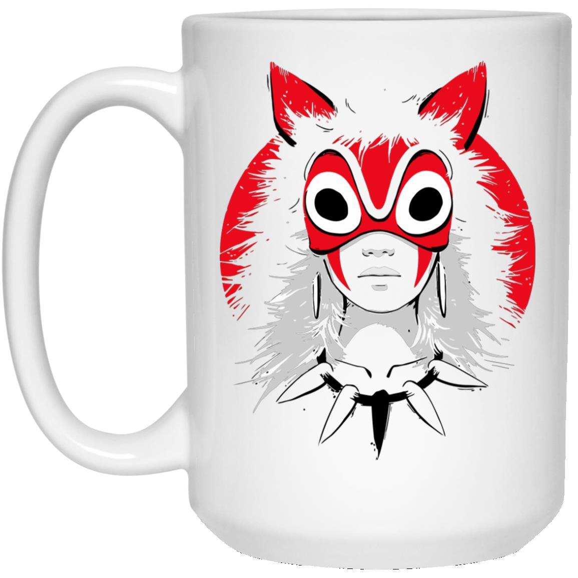 Princess Mononoke and the Broken Mask Mug