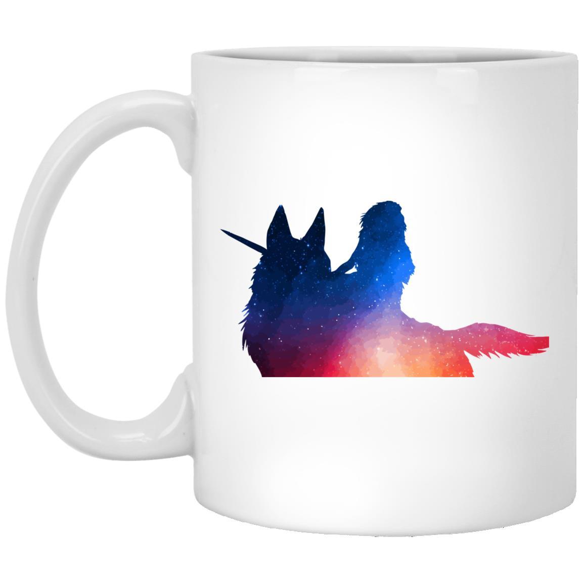 Princess Mononoke Rainbow Style Mug