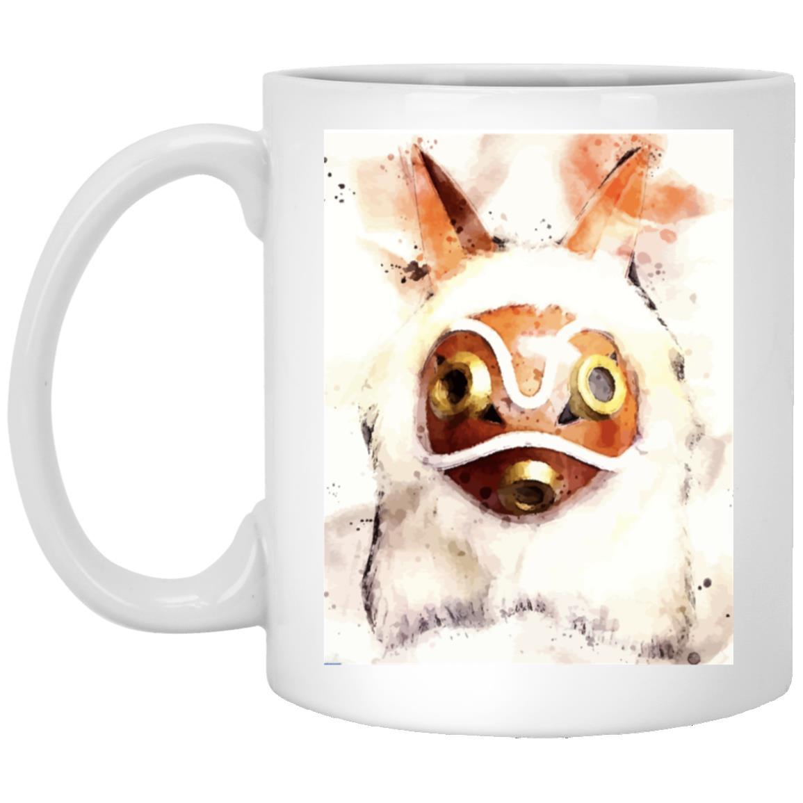 Princess Mononoke Mask Watercoloured Classic Mug