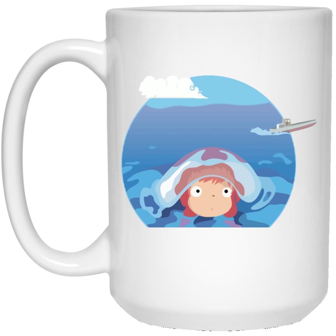 Ponyo in her first trip Mug