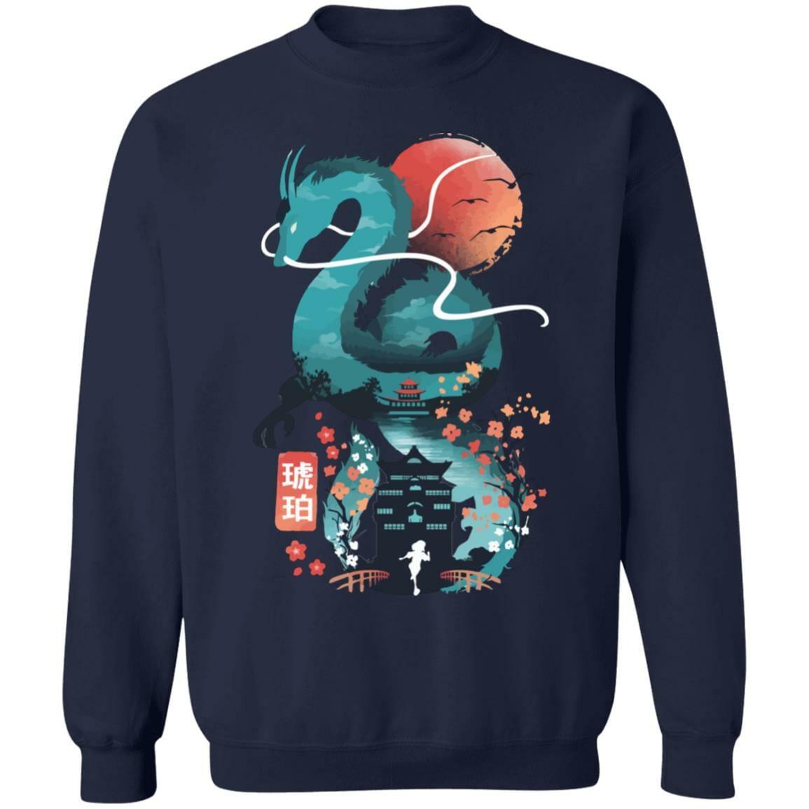 Spirited Away – Haku Dragon and The Bathhouse Classic Sweatshirt