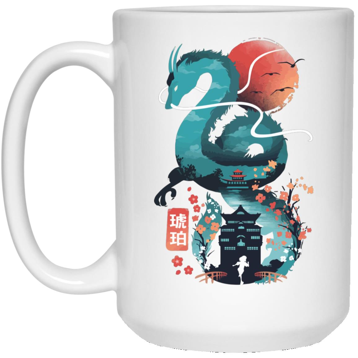 Spirited Away – Haku Dragon and The Bathhouse Classic Mug