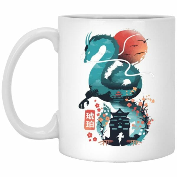 Spirited Away – Haku Dragon and The Bathhouse Classic Mug