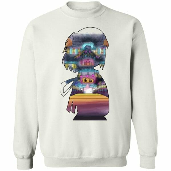 Spirited Away – Sen and The Bathhouse Cutout Colorful Hoodie