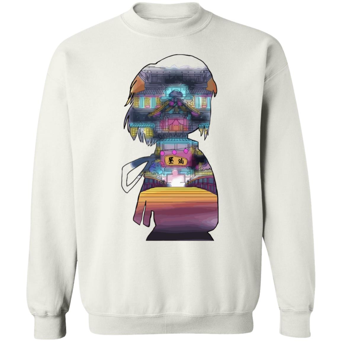 Spirited Away – Sen and The Bathhouse Cutout Colorful Sweatshirt