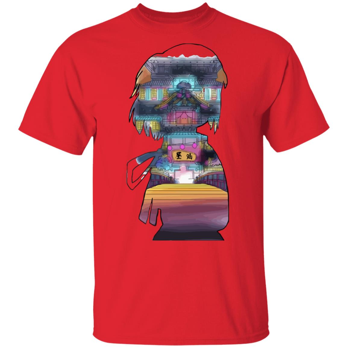 Spirited Away – Sen and The Bathhouse Cutout Colorful T Shirt