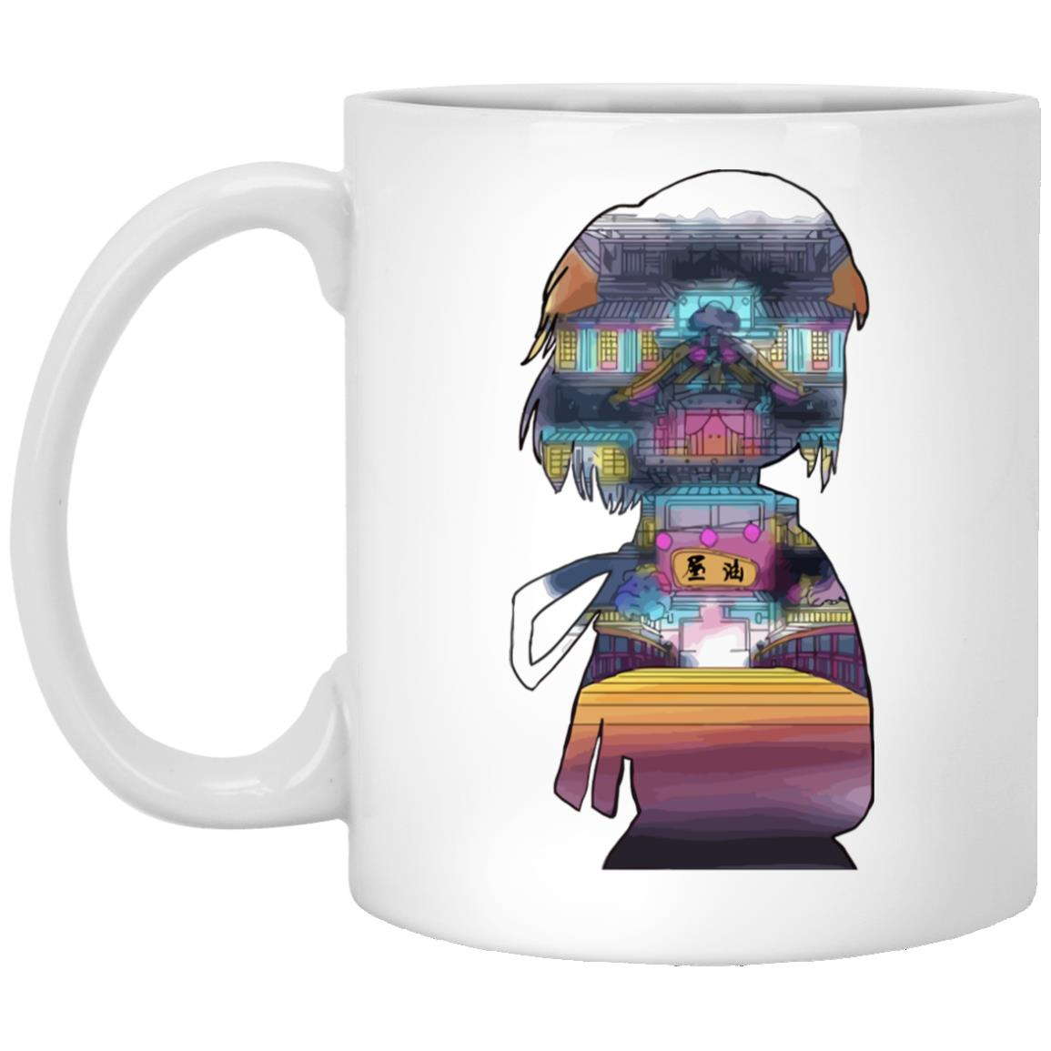 Spirited Away – Sen and The Bathhouse Cutout Colorful Mug