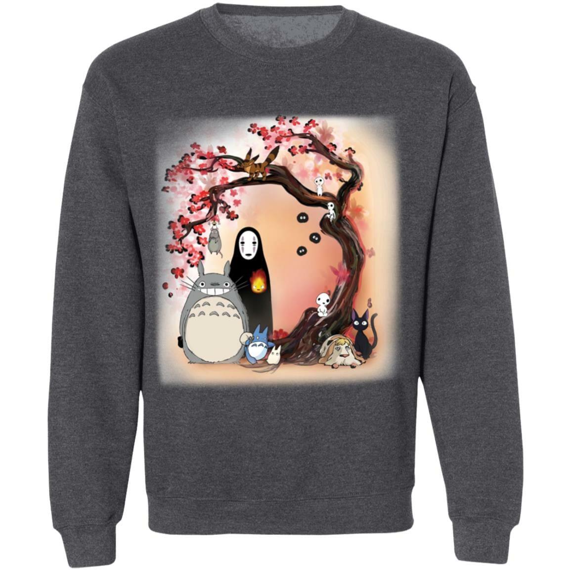 Totoro and Ghibli Friends under the Sakura Sweatshirt
