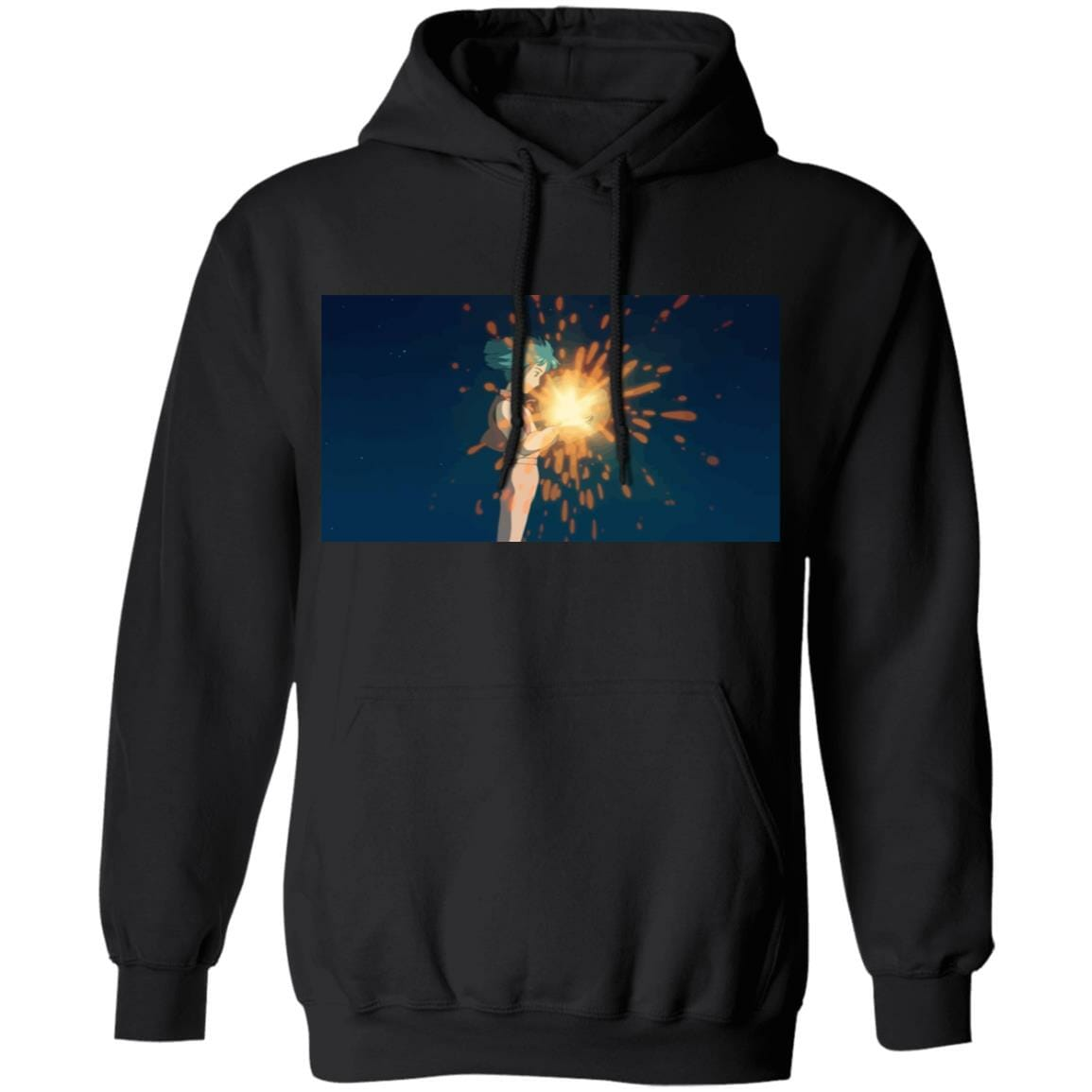 Howl's Moving Castle – Howl meets Calcifer Color Hoodie