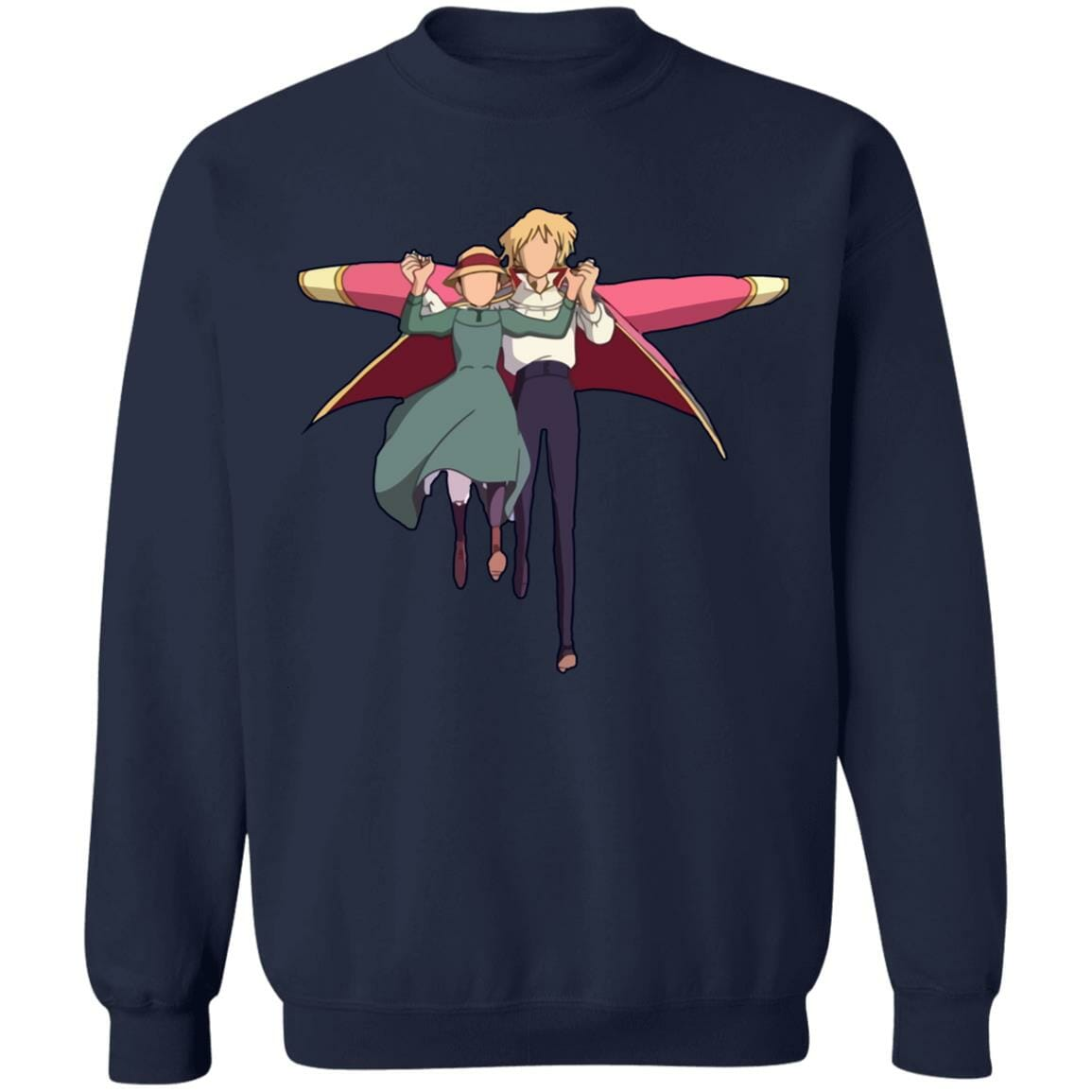 Howl's Moving Castle – Howl and Sophie Running Classic Sweatshirt