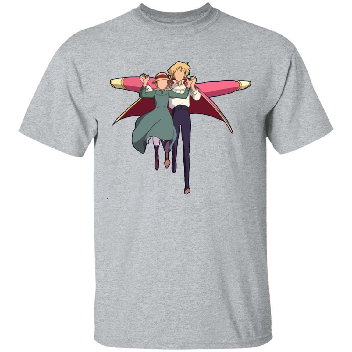 Howl's Moving Castle – Howl and Sophie Running Classic T Shirt