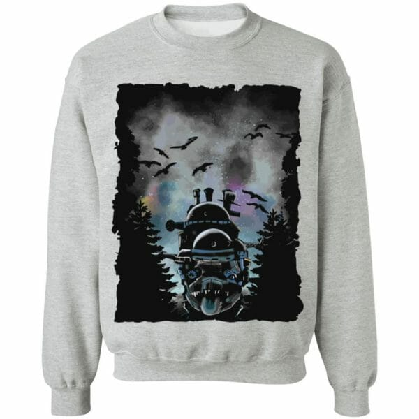 Howl's Moving Castle At Night Sweatshirt