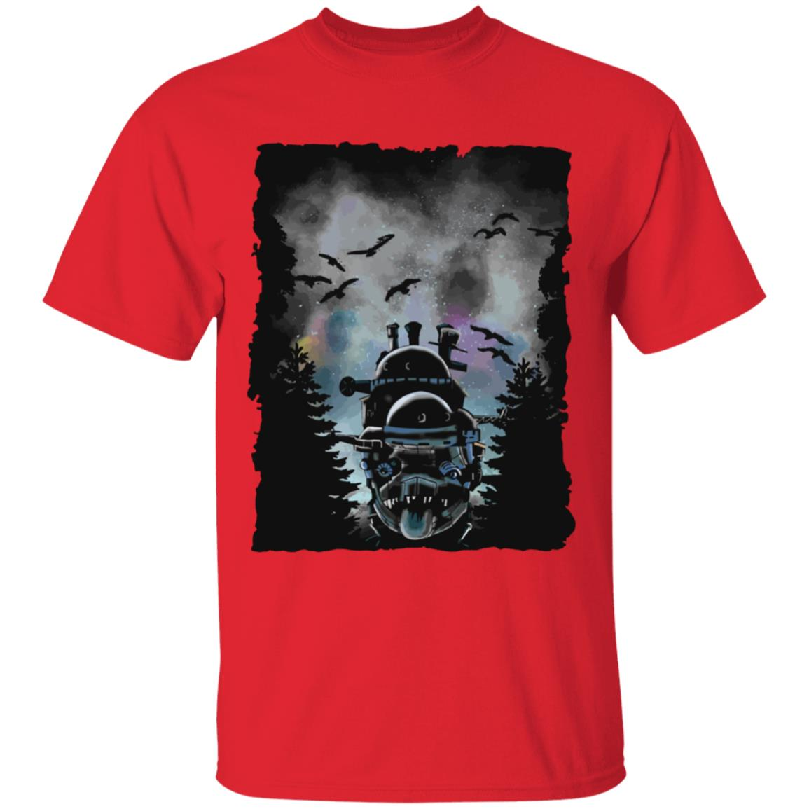 Howl's Moving Castle At Night T Shirt