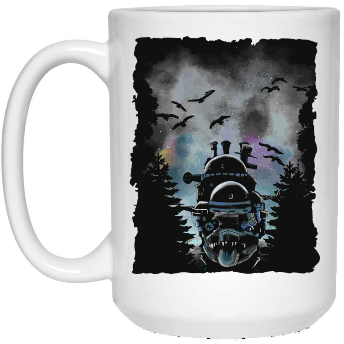 Howl's Moving Castle At Night Mug