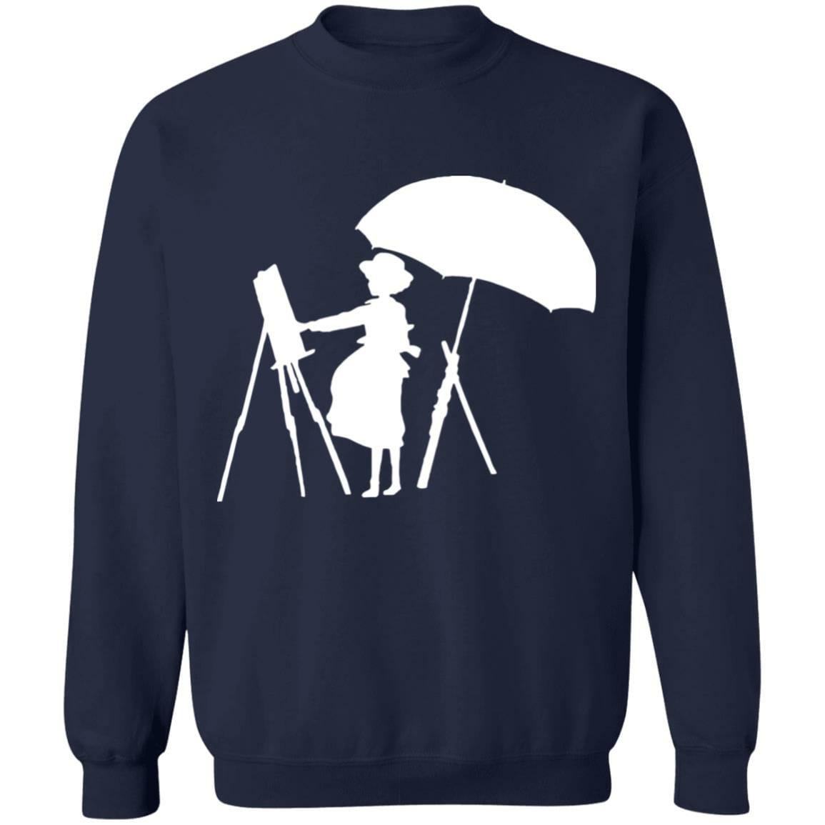 The Wind Rises Cutout Black & White Sweatshirt