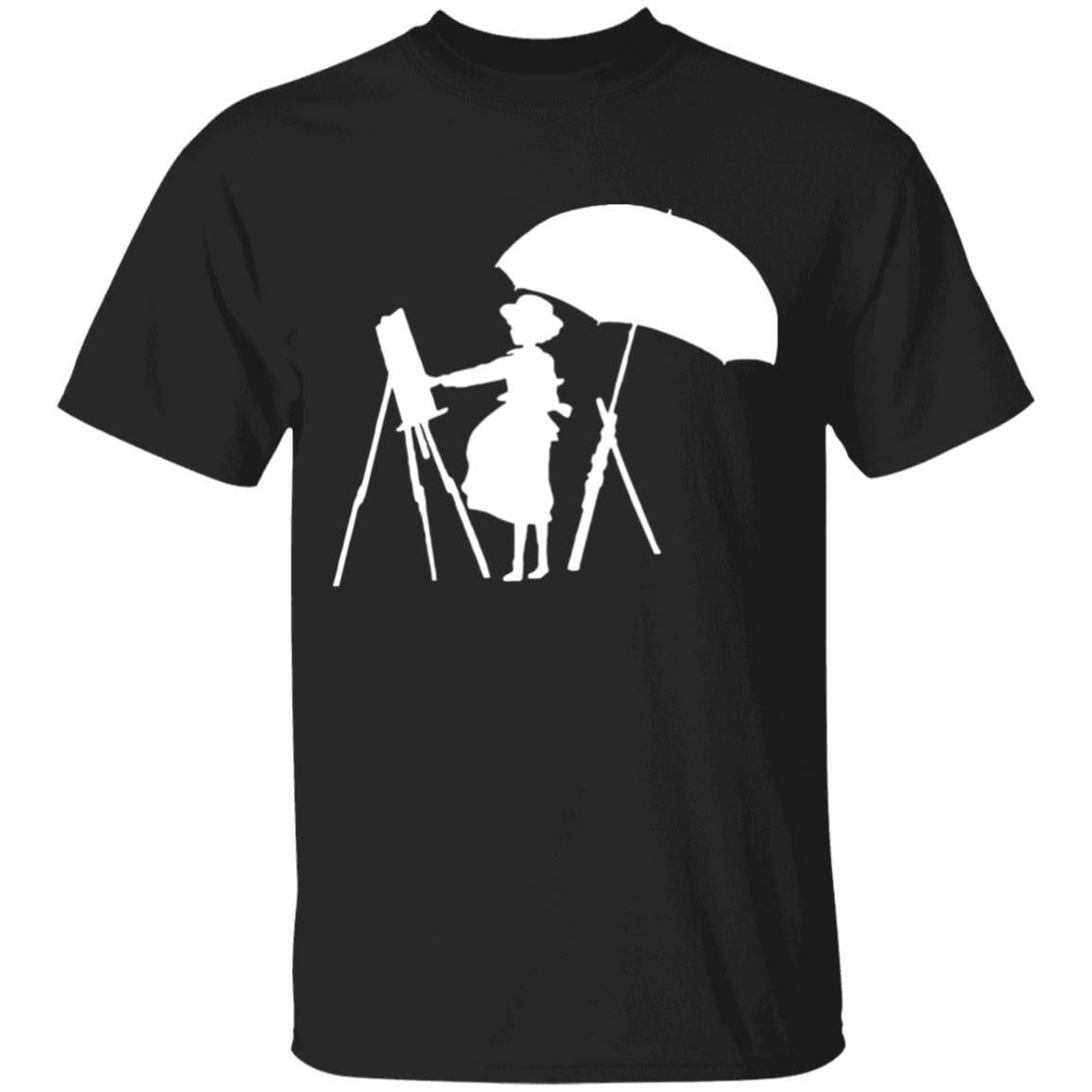 The Wind Rises Cutout Black & White T Shirt