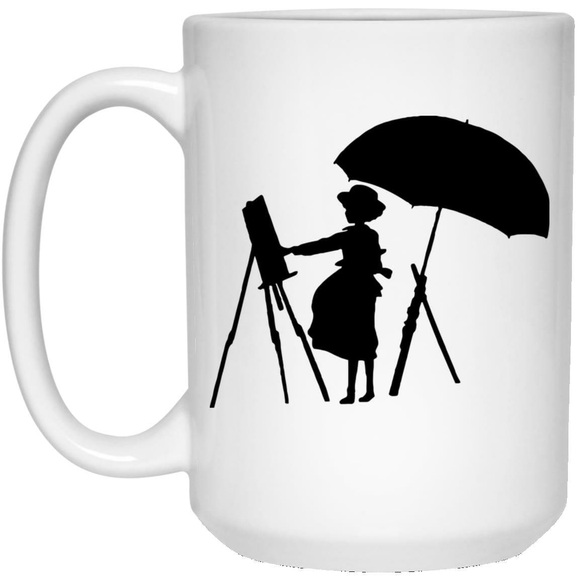 The Wind Rises Cutout Black & White Mug