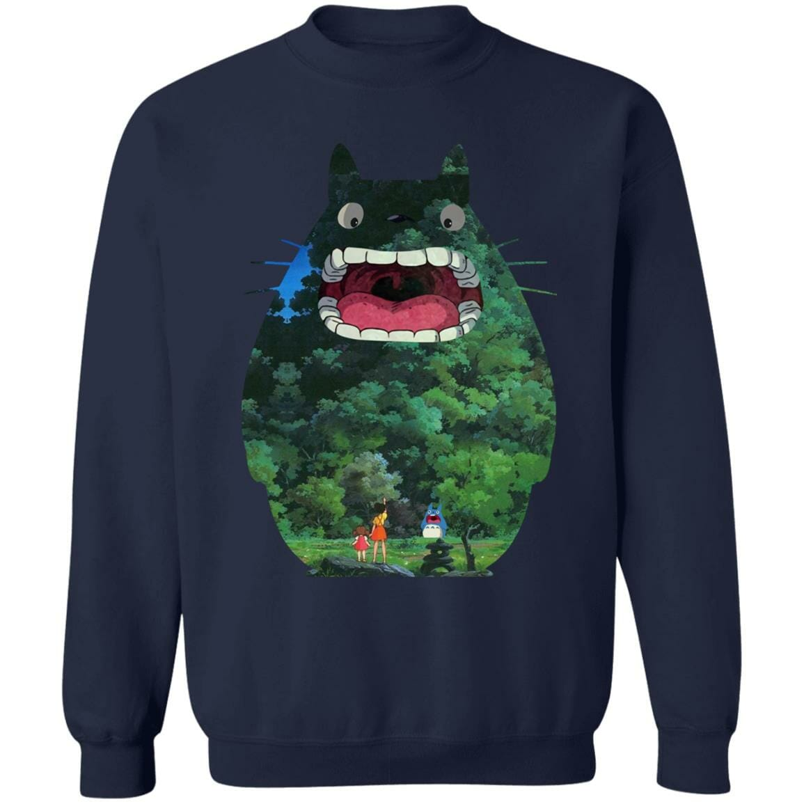 Totoro Jungle Color Cutout Sweatshirt