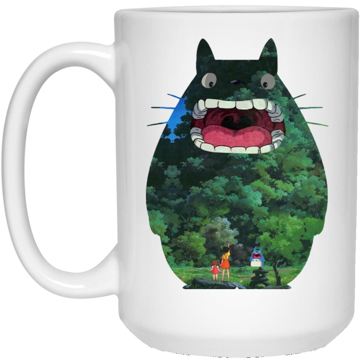 Totoro Jungle Color Cutout Mug