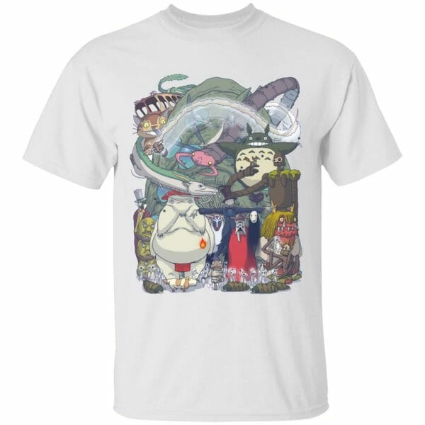Ghibli Highlights Movies Characters Collection T Shirt