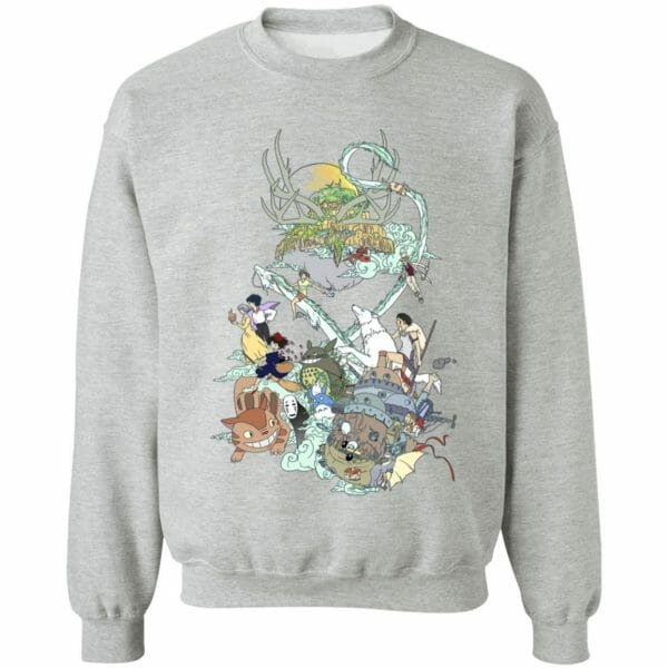 Ghibli Characters Color Collection Sweatshirt