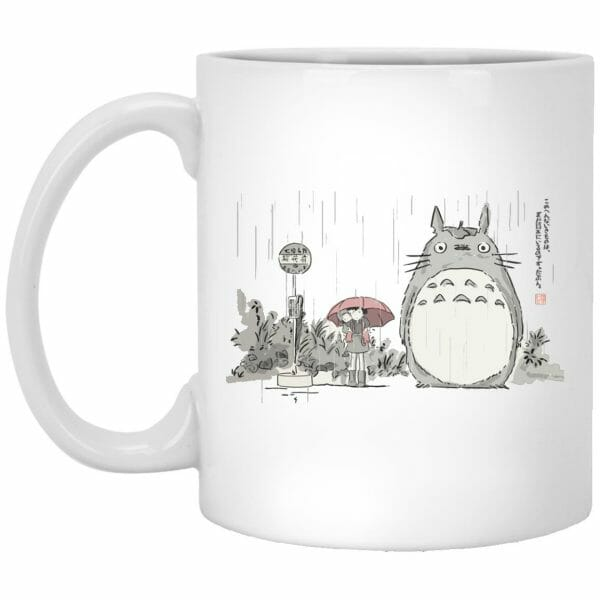 Totoro At The Bus Stop Mug