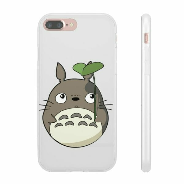 Totoro and the Leaf Umbrella iPhone Cases