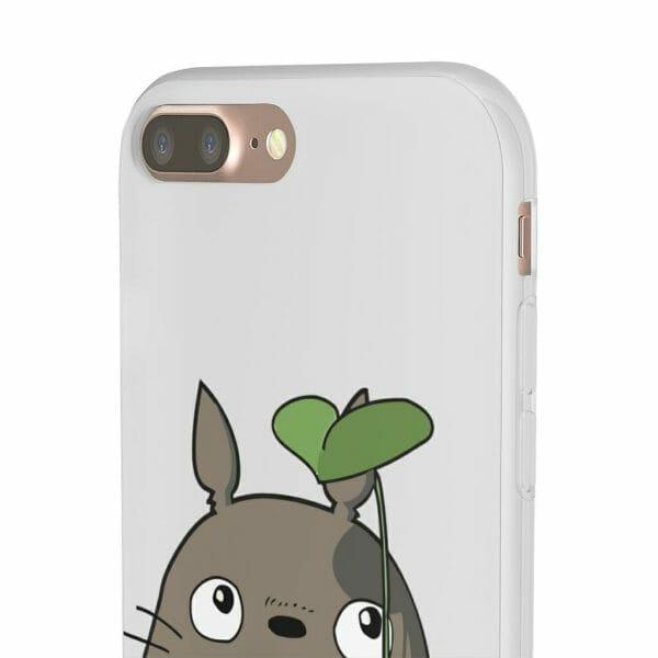 Totoro and the Leaf Umbrella iPhone Cases