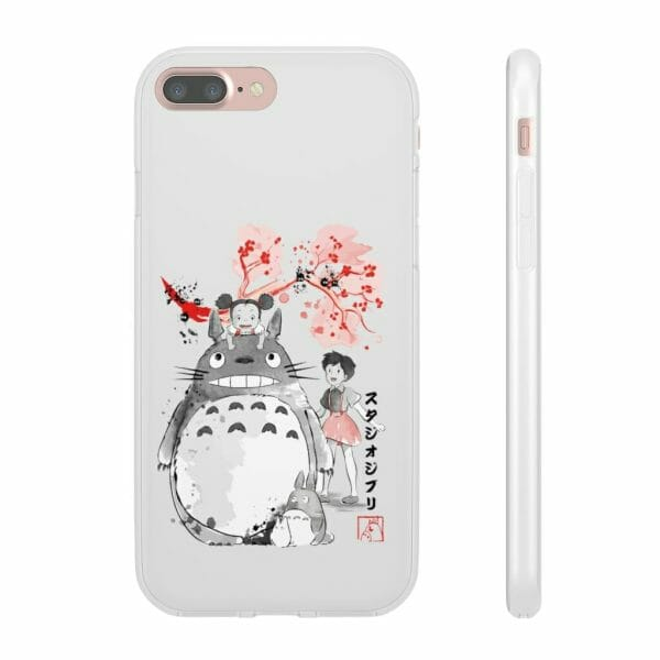 Totoro and the Girls by Sakura Flower iPhone Cases