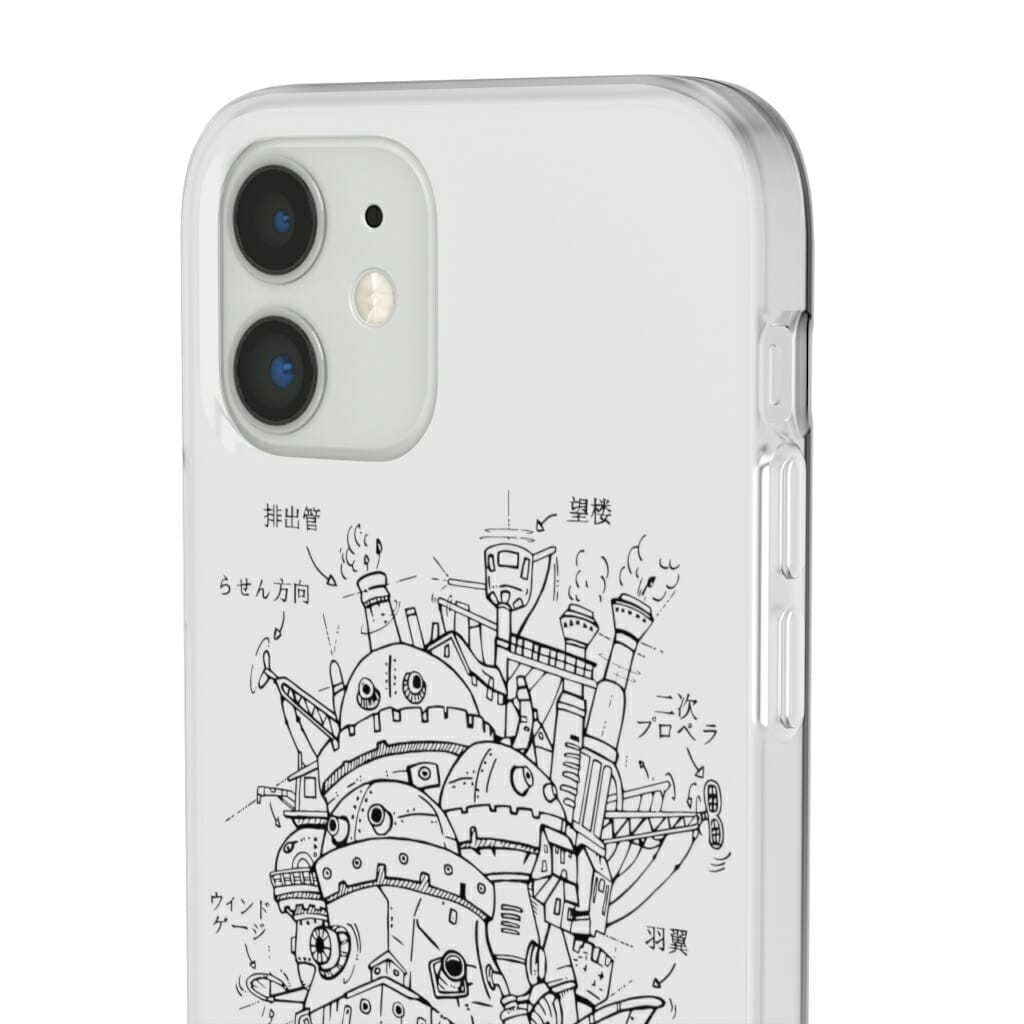 Howl's Moving Castle Sketch iPhone Cases