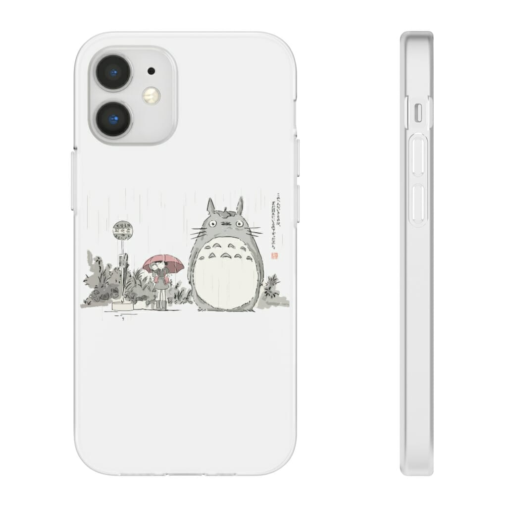 Totoro At The Bus Stop iPhone Cases