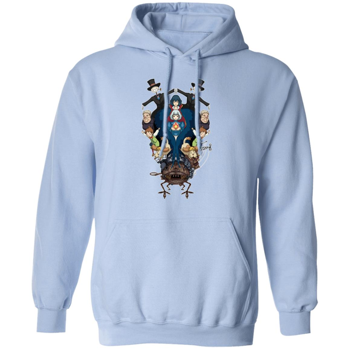 Howl's Moving Castle Characters Mirror Hoodie