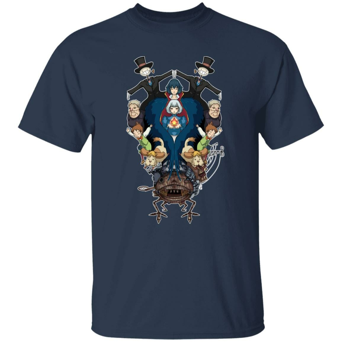 Howl's Moving Castle Characters Mirror T Shirt