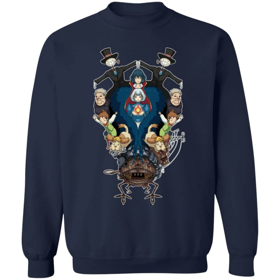 Howl's Moving Castle Characters Mirror Sweatshirt