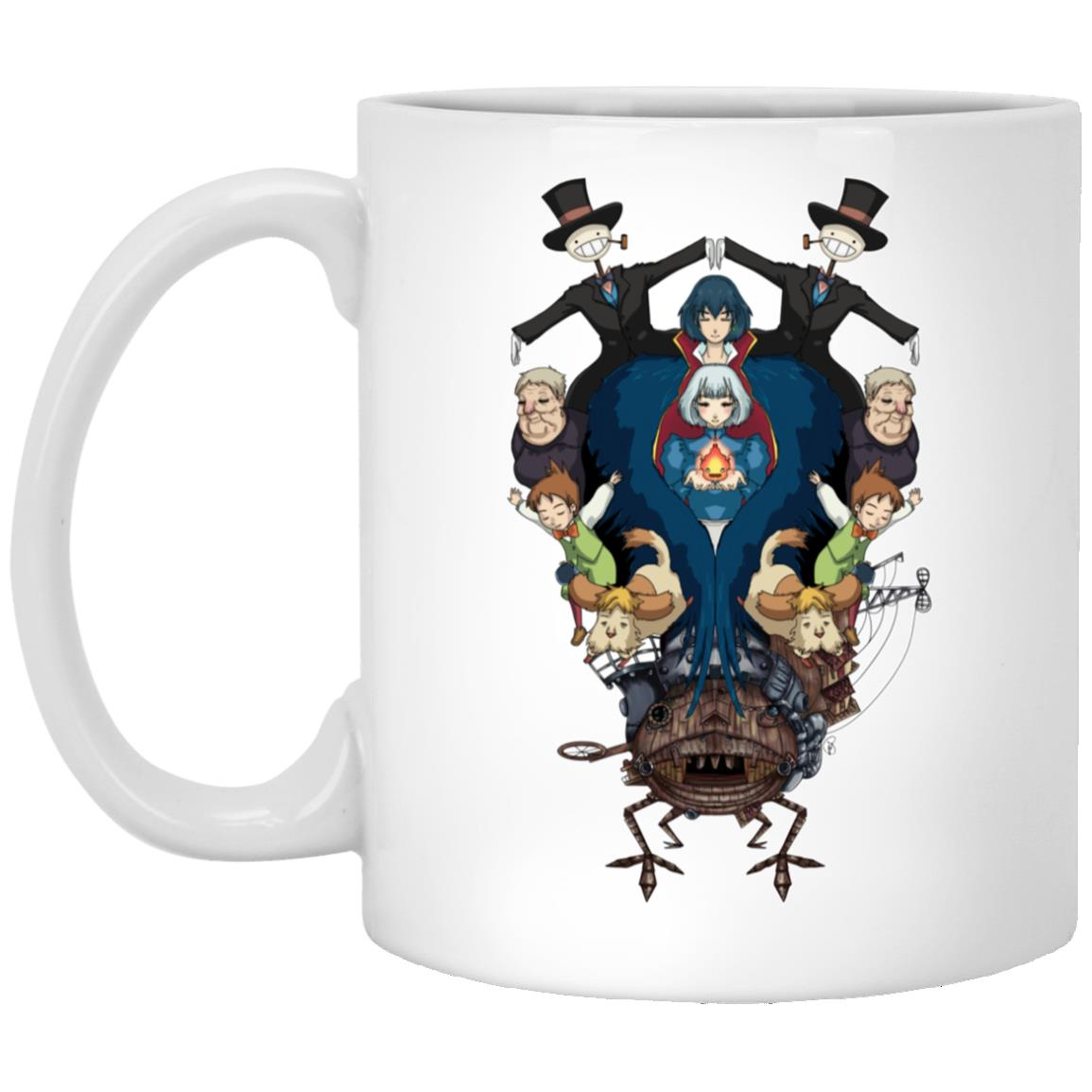 Howl's Moving Castle Characters Mirror Mug