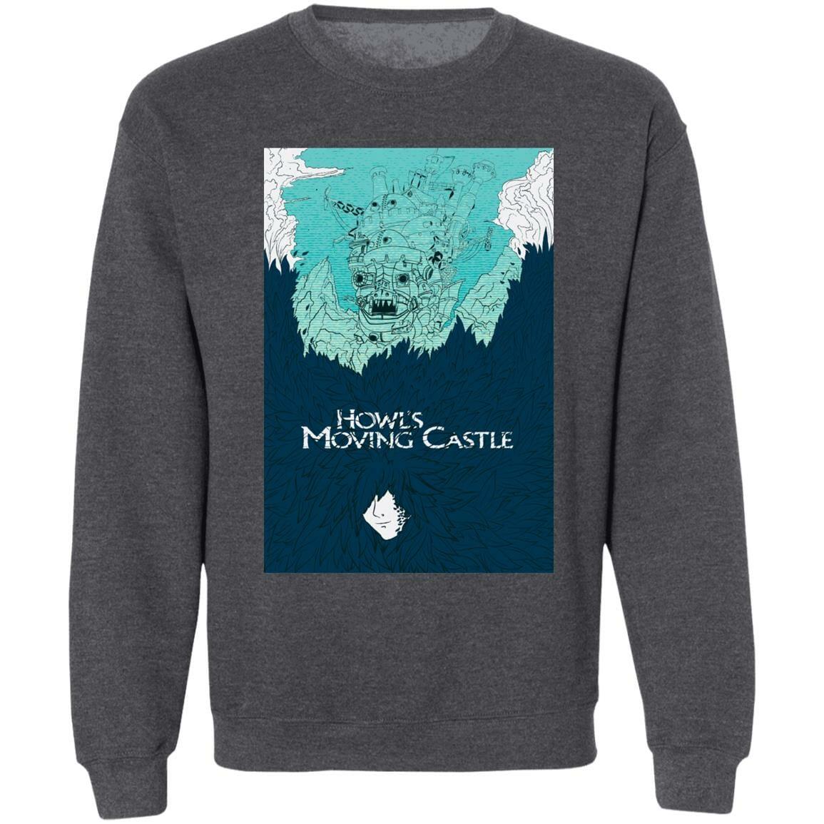Howl's Moving Castle Blue Tone Art Sweatshirt