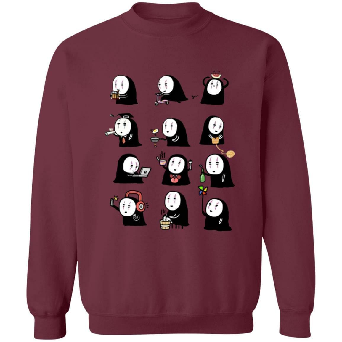 Cute No Face Kaonashi Collection Sweatshirt