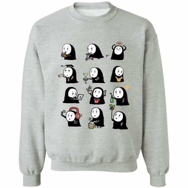 Cute No Face Kaonashi Collection Sweatshirt