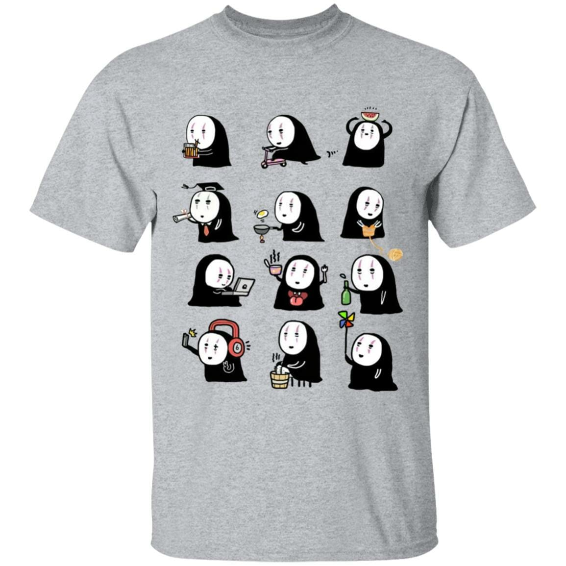 Cute No Face Kaonashi Collection T Shirt