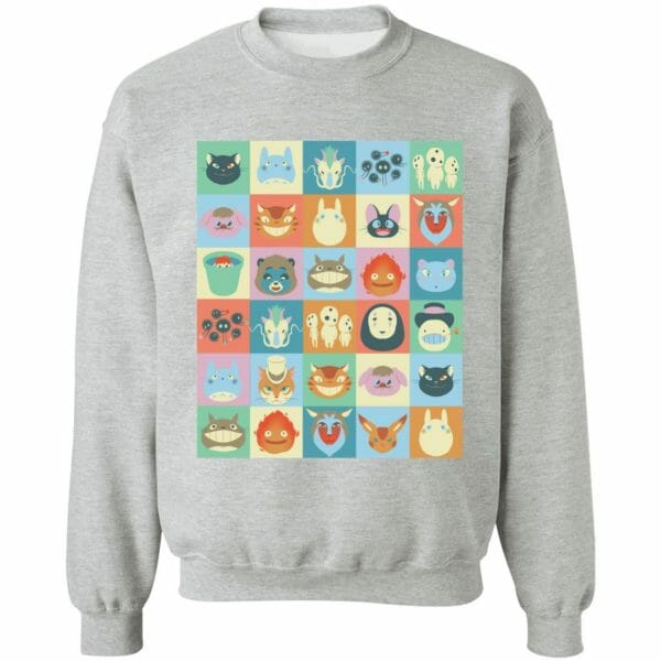 Ghibli Colorful Characters Collection Sweatshirt