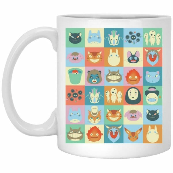 Ghibli Colorful Characters Collection Mug