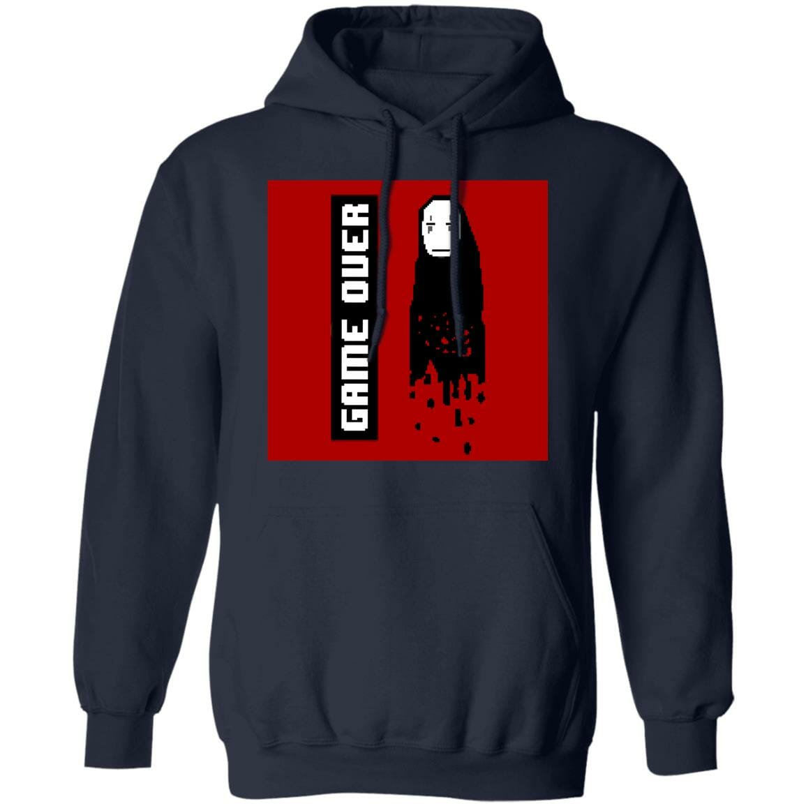 Spirited Away No Face 8 BIT Game Over Hoodie