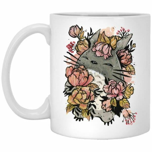 Totoro by the Flowers Mug