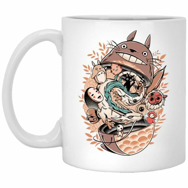 Totoro Daruma and Ghibli Friends Mug