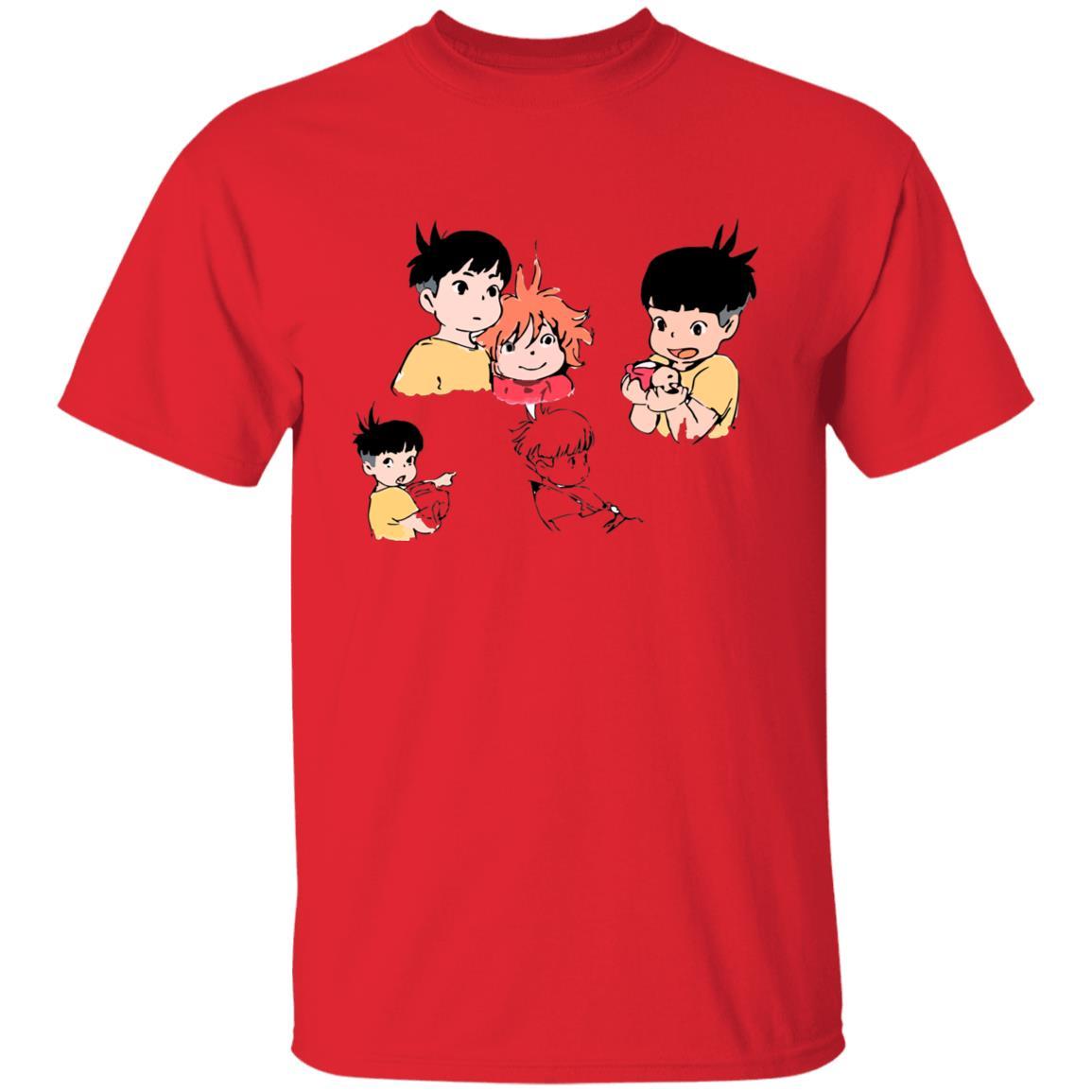 Ponyo and Sosuke Sketch T Shirt